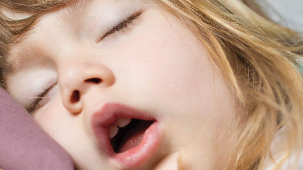 breathing-featured girl mouth breathing sleeping
